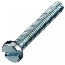 Vis métal à tête cylindrique empreinte Fendue - zingué