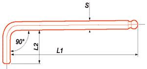 Clés à boule Acier Chrome-Vanadium taité 50/52 HRc