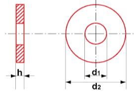Rondelles traitées 36-44 HRC (370 HV) DIN 6340 Brut
