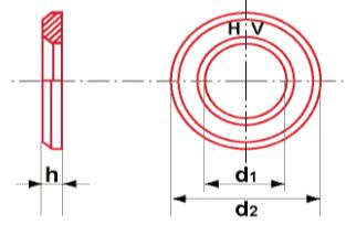 Rondelles traitées 32-35 HRC (300HV) DIN 6916 Brut