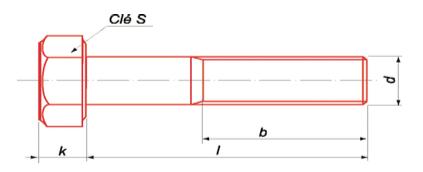 Vis à Tête Hexagonale 8.8 zingué - filetage partiel