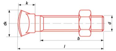 TOCC - Tête ovale collet carré 8.8 zingué